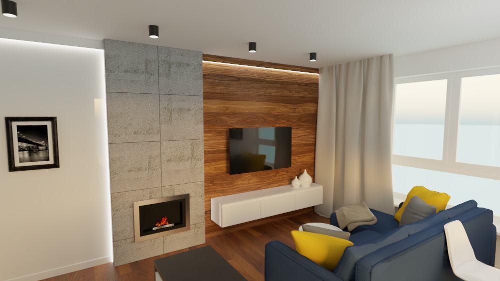 projektanci wnętrz mieszkanie na goclawiu 1d Mieszkanie na Gocławiu salon kuchnia