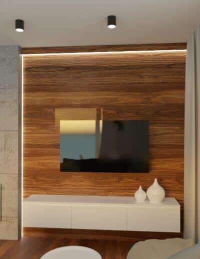 projektanci wnętrz mieszkanie na goclawiu 1e Mieszkanie na Gocławiu salon kuchnia