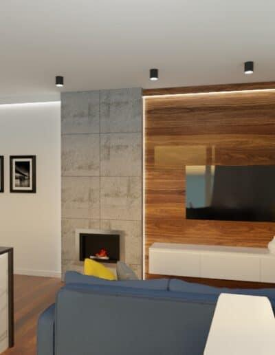 projektanci wnętrz mieszkanie na goclawiu 1f Mieszkanie na Gocławiu salon kuchnia