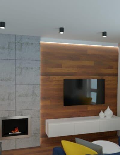 projektanci wnętrz mieszkanie na goclawiu 1g Mieszkanie na Gocławiu salon kuchnia
