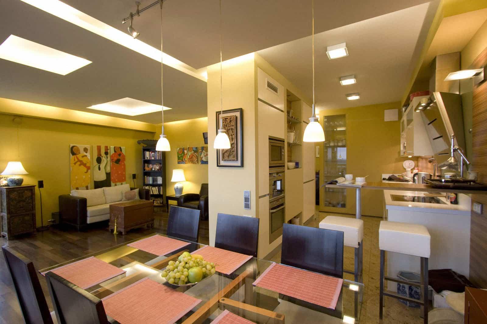 projektanci wnętrz mieszkanie na warszawskim mokotowie 001 Mieszkanie na Mokotowie Kuchnia z Salonem