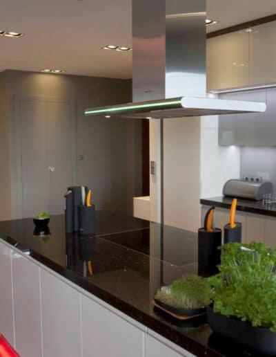 projektanci wnętrz mieszkanie na zoliborzu kuchnia 1A Kuchnia otwarta na salon Żoliborz