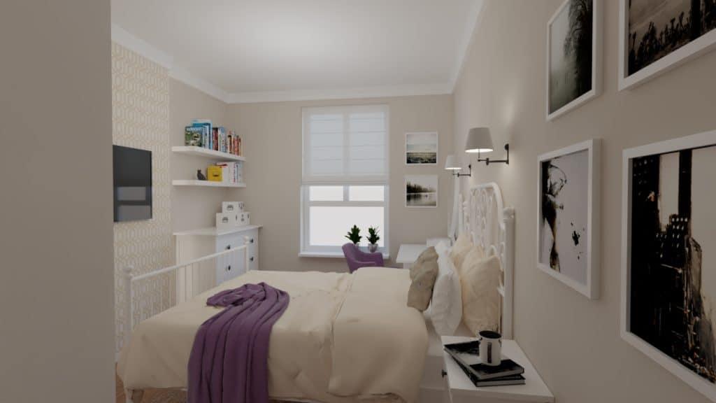 projektanci wnętrz mokotow pokoj dla corki 1b Pokój z sypialnią dla dziewczynki
