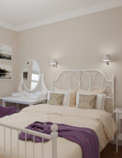 projektanci wnętrz mokotow pokoj dla corki 1f Pokój z sypialnią dla dziewczynki