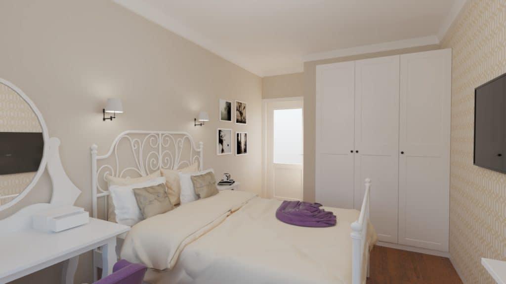 Pokój z sypialnią dla dziewczynki
