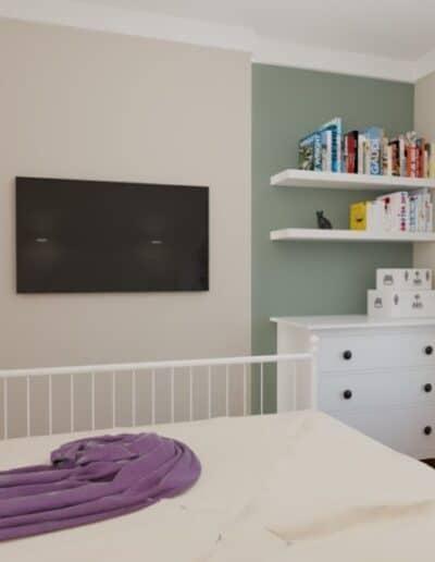 projektanci wnętrz mokotow pokoj dla corki 1h Sypialnia dla córki