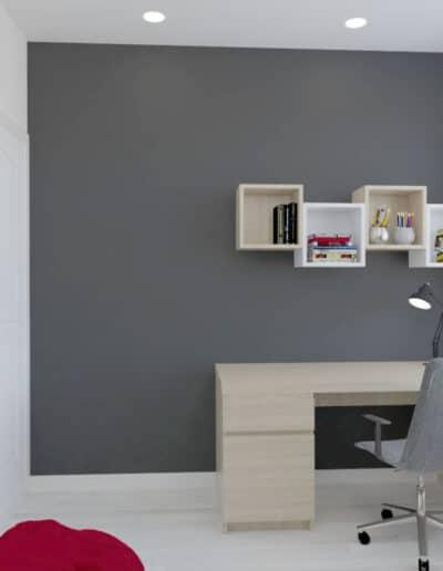 projektanci wnętrz pokoj bialo czarna tapeta 1c POKÓJ z ciekawą biało – czarną tapetą