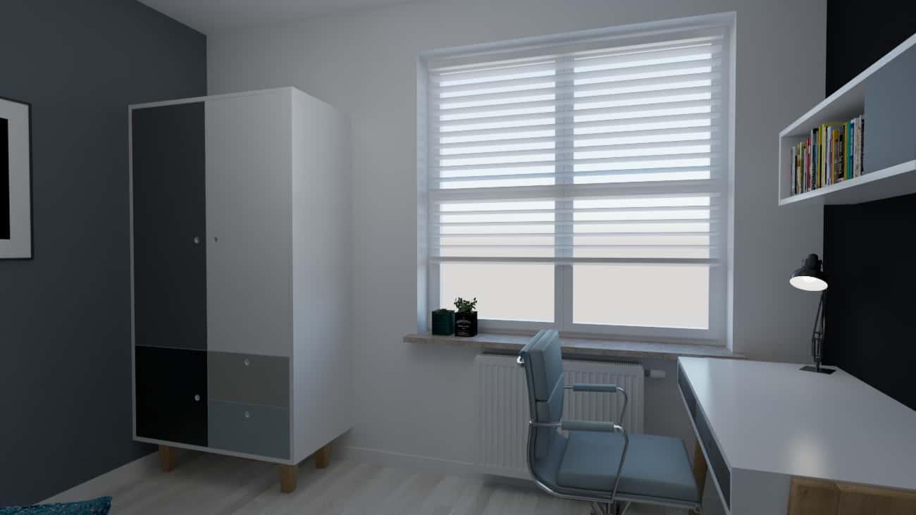 projektanci wnętrz pokoj chlopca szaro bialy 1b Szaro-biały pokój dla chłopca