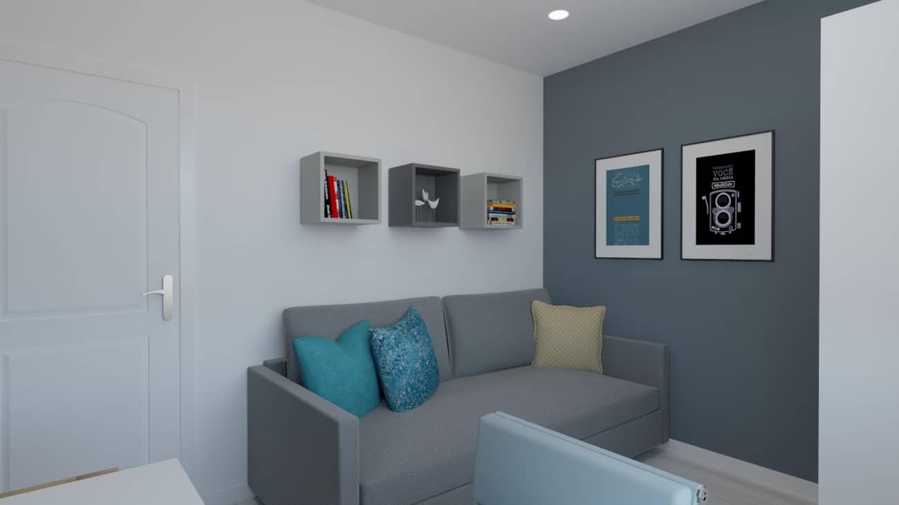 projektanci wnętrz pokoj chlopca szaro bialy 1d Szaro-biały pokój dla chłopca