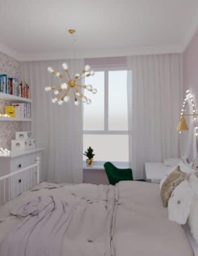 projektanci wnętrz pokoj corki roz 1a Pokój córki róż