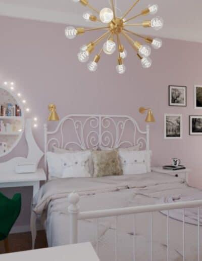 projektanci wnętrz pokoj corki roz 1b Pokój córki róż