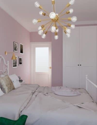 projektanci wnętrz pokoj corki roz 1c Pokój córki róż