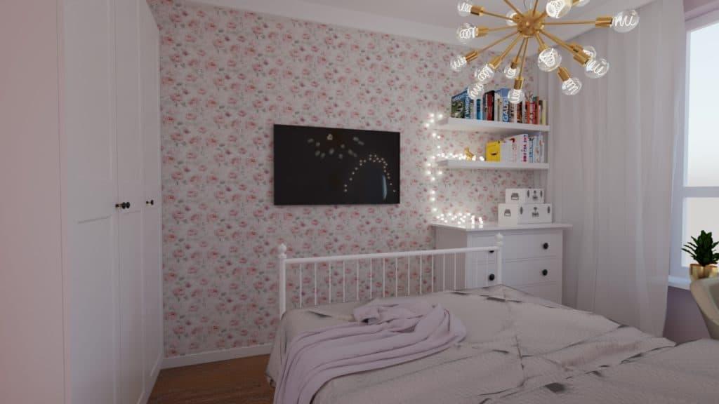 projektanci wnętrz pokoj corki roz 1d Pokój córki róż