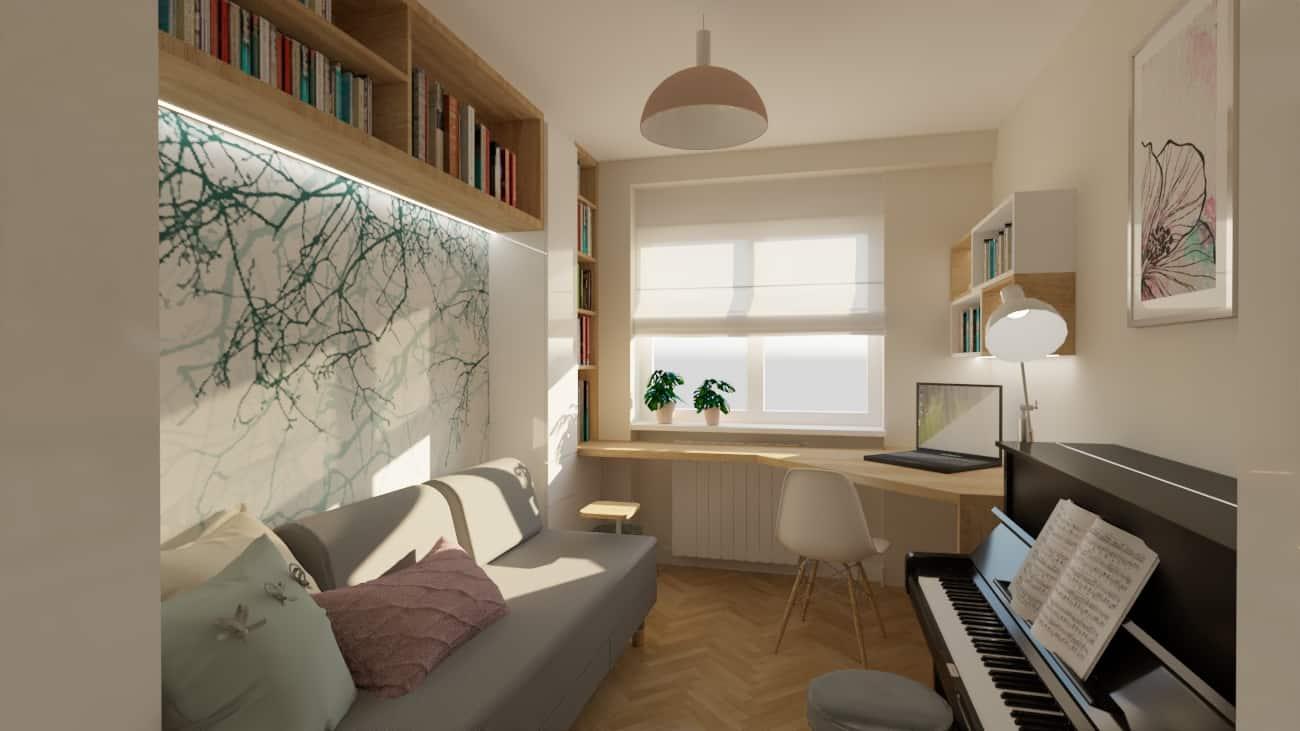 pokoj corki z pianinem 1a Pokój z pianinem dla córki