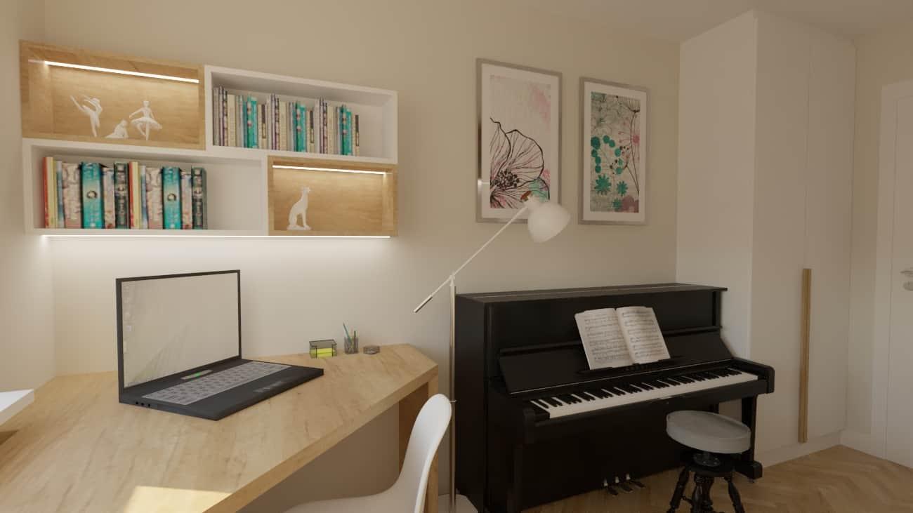 pokoj corki z pianinem 1e Pokój z pianinem dla córki
