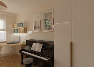 Pokój z pianinem dla córki