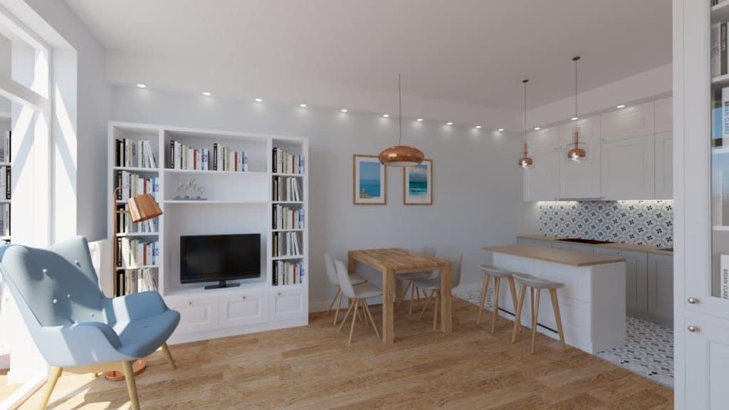 projektanci wnętrz salon otwarty na kuchnie a Salon otwarty na kuchnie