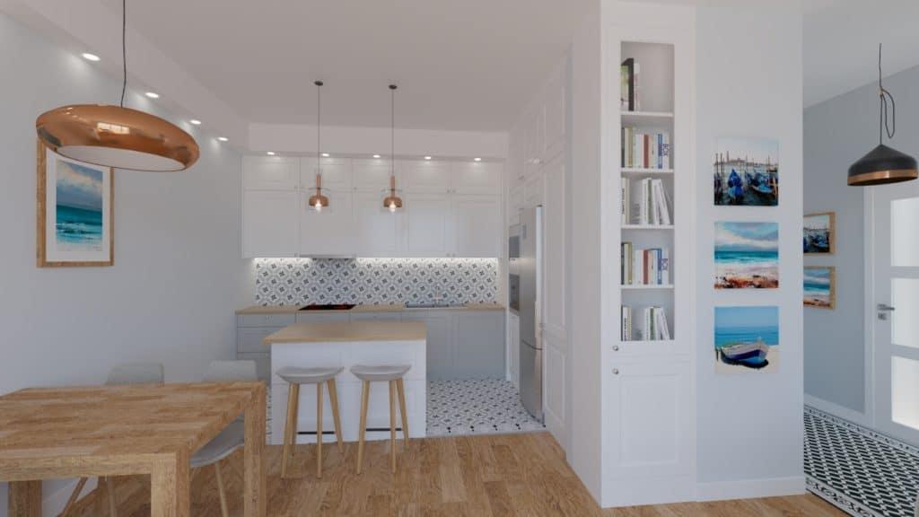 projektanci wnętrz salon otwarty na kuchnie b Salon otwarty na kuchnie
