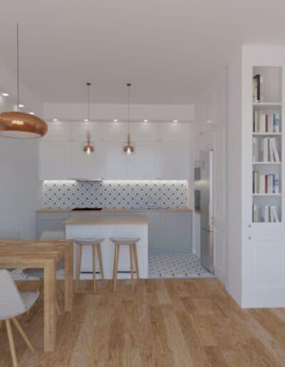 projektanci wnętrz salon otwarty na kuchnie c Salon otwarty na kuchnie