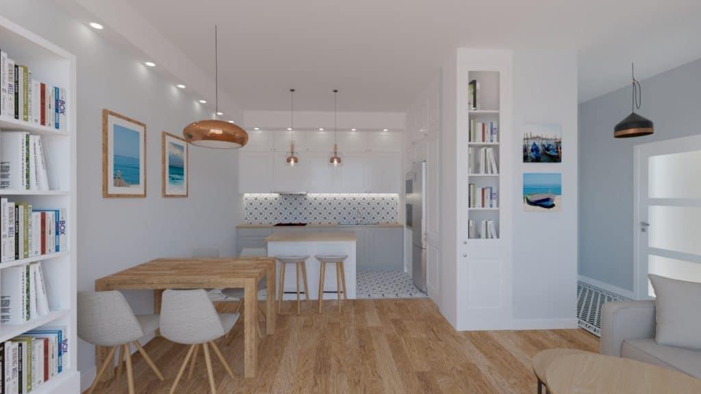 Salon otwarty na kuchnie