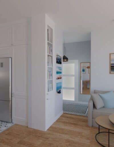 projektanci wnętrz salon otwarty na kuchnie d Salon otwarty na kuchnie