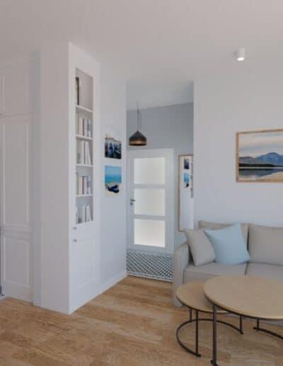 projektanci wnętrz salon otwarty na kuchnie e Salon otwarty na kuchnie