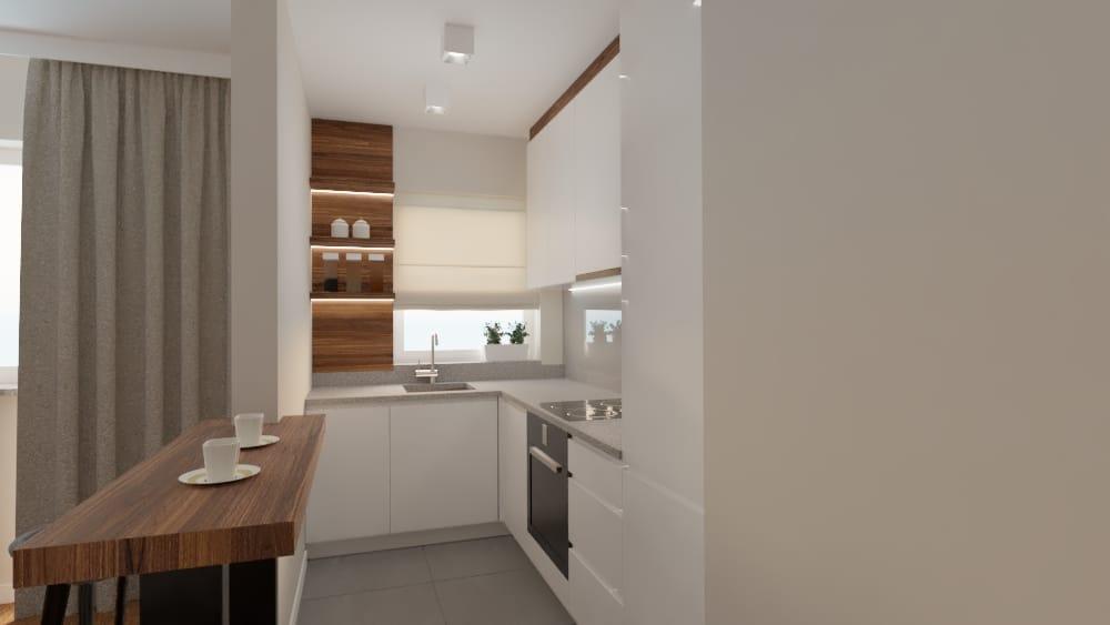 projektanci wnętrz salon z kuchnia na woli 1d Salon kuchnia mieszkanie Wola