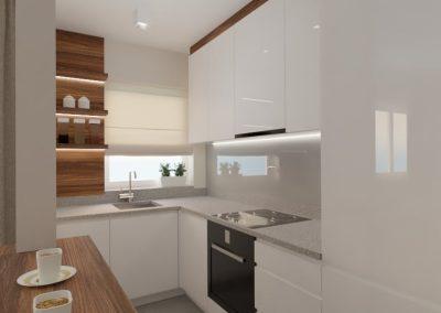 Kuchnia salon mieszkanie Wola