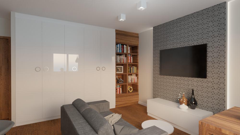 projektanci wnętrz salon z kuchnia na woli 1g Salon kuchnia mieszkanie Wola