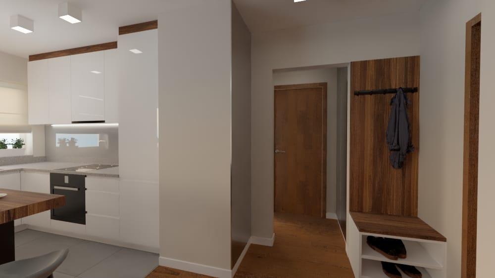projektanci wnętrz salon z kuchnia na woli 1j Salon kuchnia mieszkanie Wola