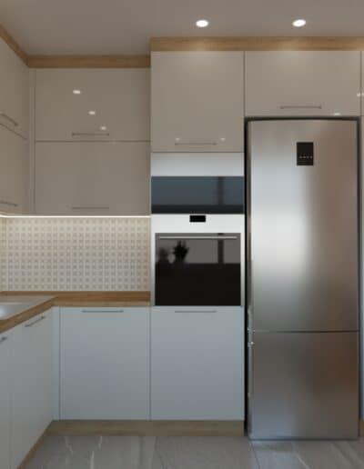projektanci wnętrz salon z kuchnia rozowy 1e Kuchnia otwarta na salon z różowym akcentem