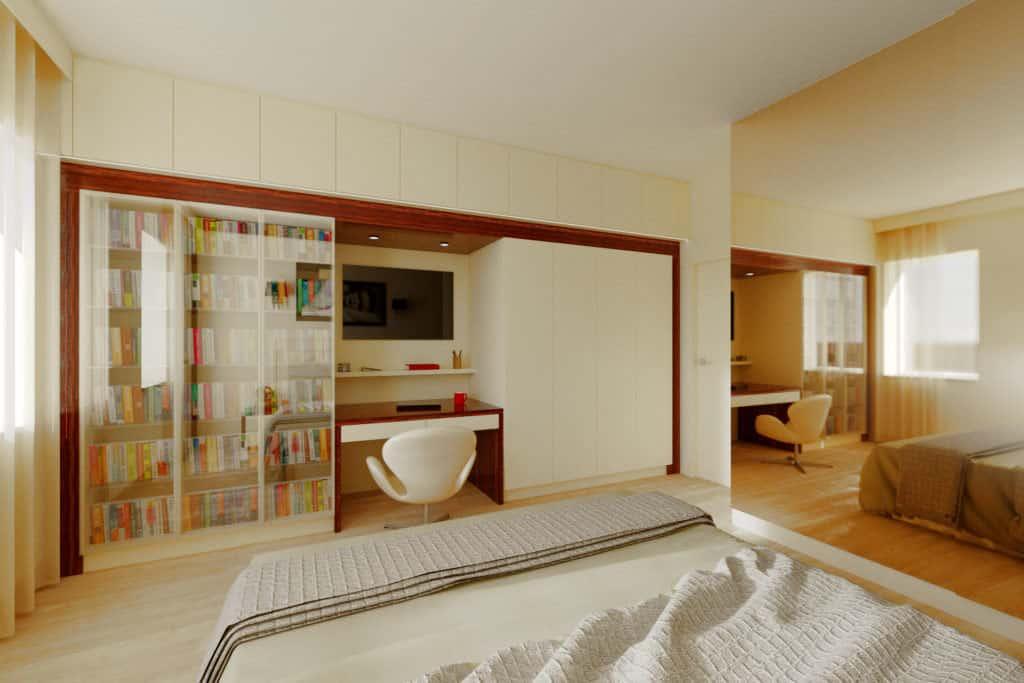 projektanci wnętrz sypialnia A001 Sypialnia kremowa