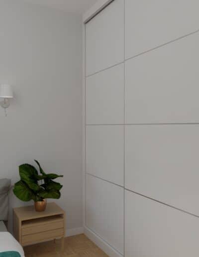 projektanci wnętrz sypialnia biala z szafa 1b SYPIALNIA biała z szafą