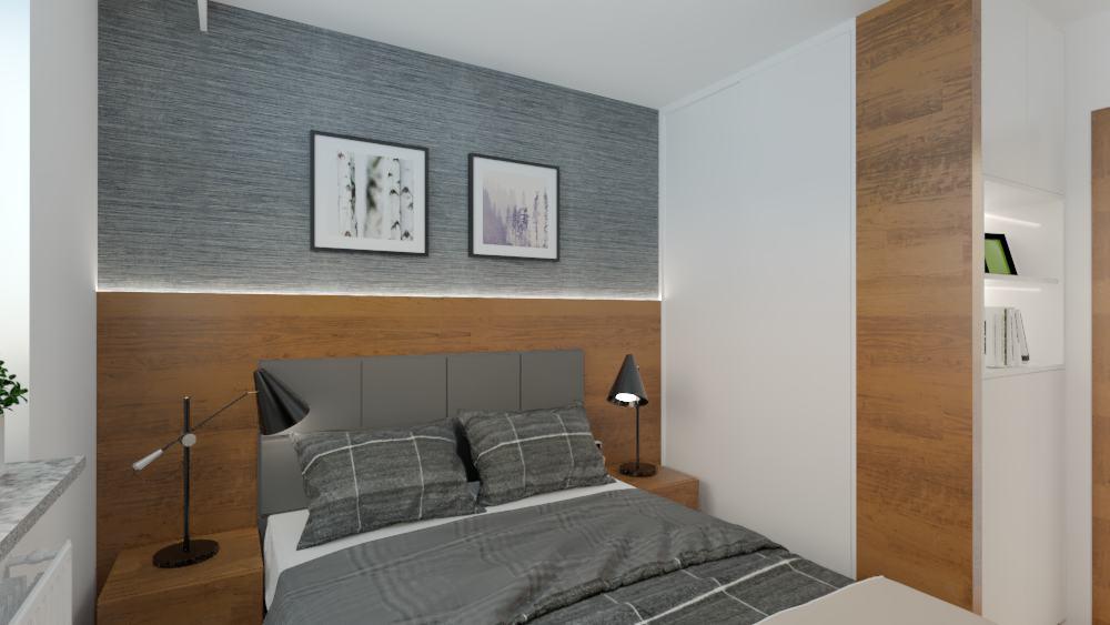 projektanci wnętrz sypialnia mieszkanie wola 1a Aranżacja sypialni na Woli