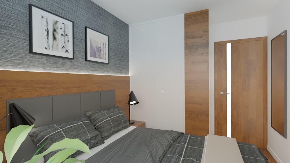 projektanci wnętrz sypialnia mieszkanie wola 1b Aranżacja sypialni na Woli