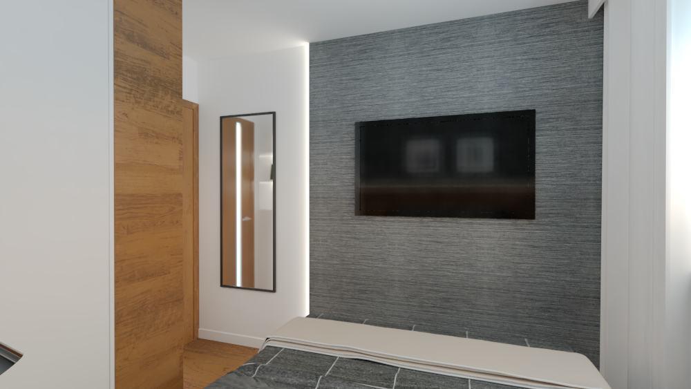 projektanci wnętrz sypialnia mieszkanie wola 1c Aranżacja sypialni na Woli