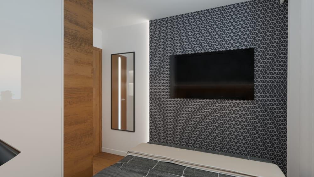 projektanci wnętrz sypialnia mieszkanie wola 1f Sypialnia mieszkanie Wola