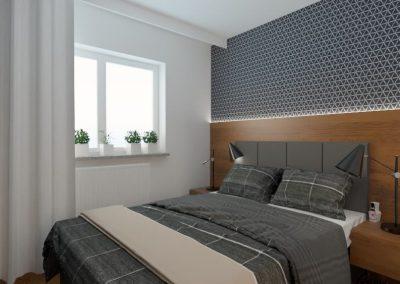 Sypialnia mieszkanie Wola