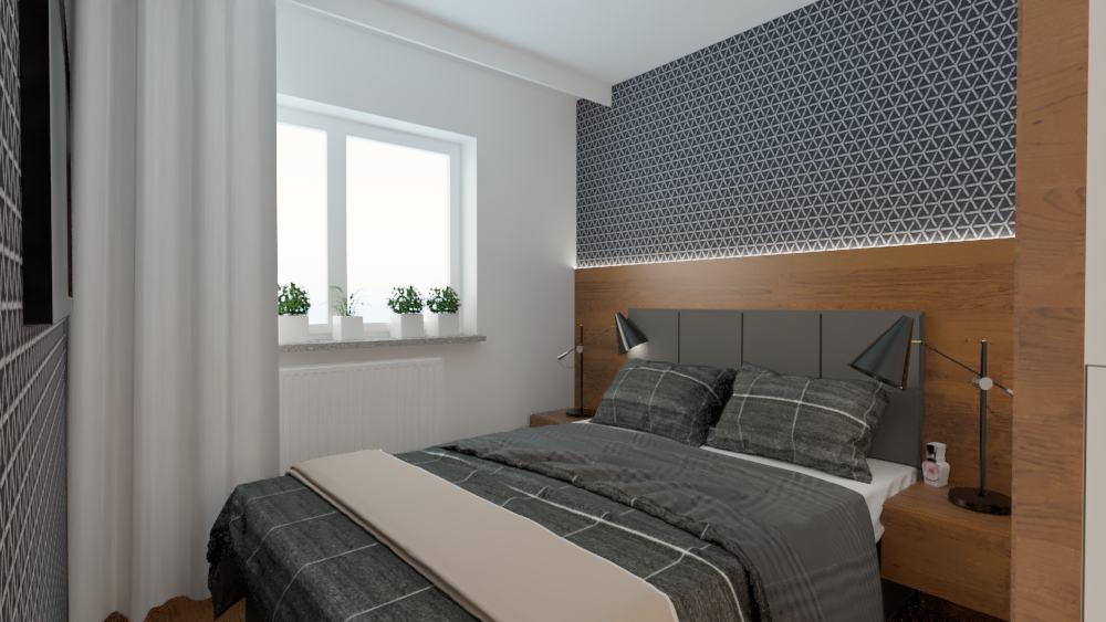 projektanci wnętrz sypialnia mieszkanie wola 1g Sypialnia mieszkanie Wola