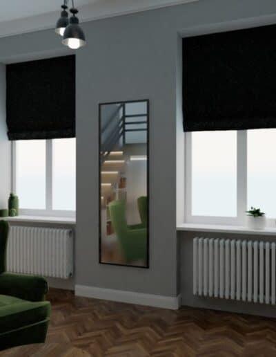 projektanci wnętrz sypialnia na antresoli 1a Sypialnia na antresoli