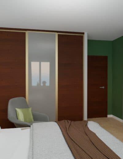 projektanci wnętrz sypialnia na ochocie szczesliwice 1c Sypialnia na ochocie, Szczęśliwice