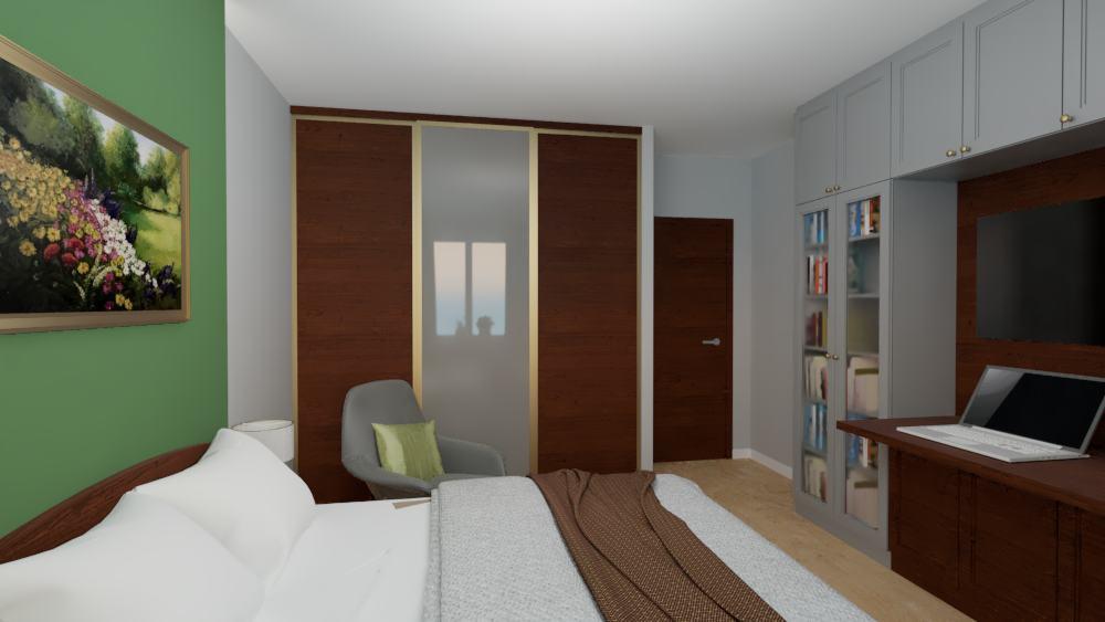projektanci wnętrz sypialnia na ochocie szczesliwice 1d Sypialnia na ochocie, Szczęśliwice