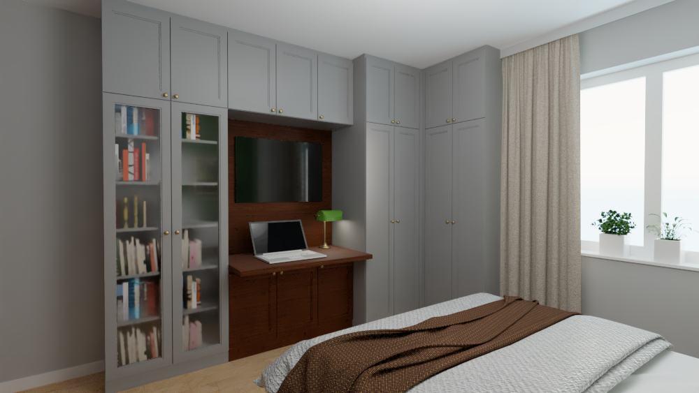 projektanci wnętrz sypialnia na ochocie szczesliwice 1f Sypialnia na ochocie, Szczęśliwice