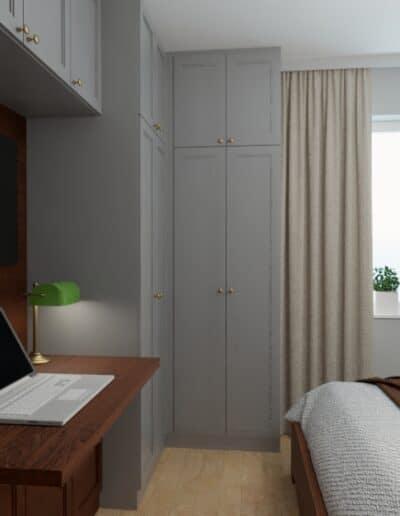 projektanci wnętrz sypialnia na ochocie szczesliwice 1g Sypialnia na ochocie, Szczęśliwice