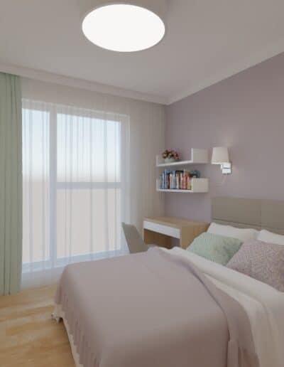 projektanci wnętrz sypialnia rozowa z obrazami 1a Salon z różowym akcentem otwarty na kuchnię