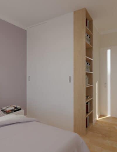 projektanci wnętrz sypialnia rozowa z obrazami 1c Sypialnia różowa z obrazkami