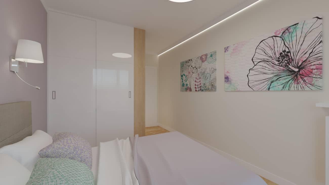 projektanci wnętrz sypialnia rozowa z obrazami 1d Sypialnia różowa z obrazkami