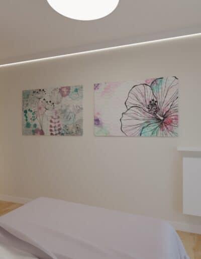 projektanci wnętrz sypialnia rozowa z obrazami 1e Sypialnia różowa z obrazkami