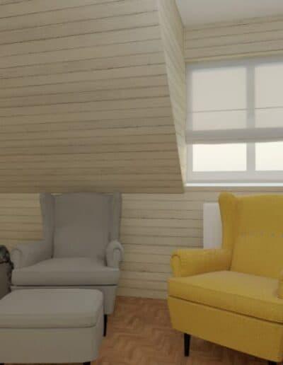 projektanci wnętrz sypialnia w nadarzynie 1d Sypialnia z lustrem Nadarzyn