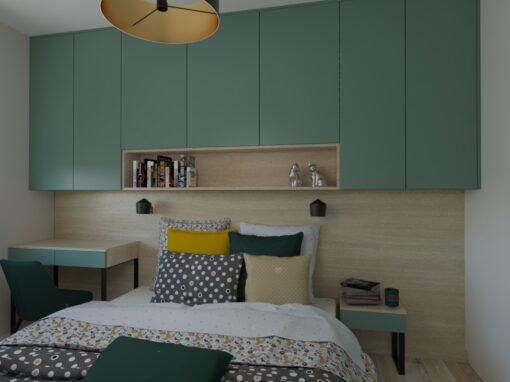 Sypialnia zielona